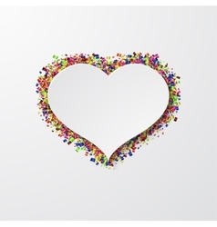 modern heart with confetti on white vector image