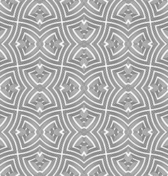 monochrome geometric twisted seamless pattern vector image