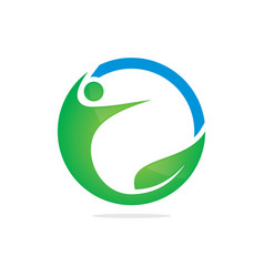 eco people sport abstract logo image vector image