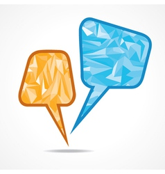 Abstract speech bubble with triangle vector image