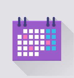 Calendar flat icon vector
