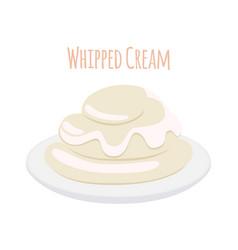 Whipped cream milk product dairy sweet yogurt vector