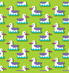 Summer seamless pattern with seagull vector