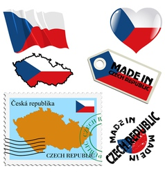National colours of czech republic vector