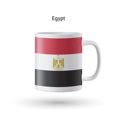 Egypt flag souvenir mug on white background vector