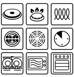 Metallic tableware symbols for food grade metal vector image