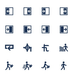 Movement direction icons vector