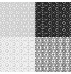 Grey seamless patterns vector