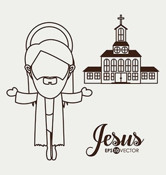 Jesus design vector