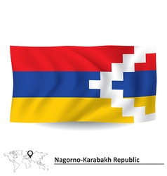 Flag of nagorno-karabakh republic vector