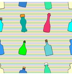 pattern with bottles vector image