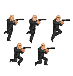 Body guard jumping animation vector