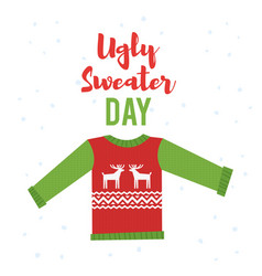 cartoon style of ugly sweater vector image vector image