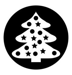 Christmas Tree button vector image vector image