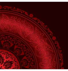 Decorative vintage red background vector image