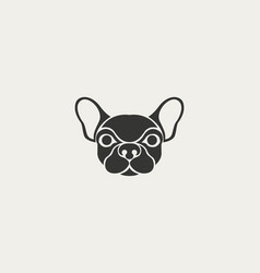 dog logo icon design template vector image