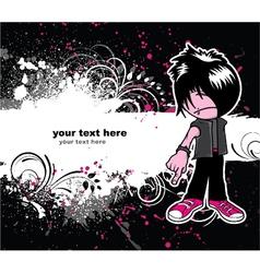 emo kid vector image vector image