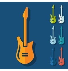 Flat design electric guitar vector image vector image