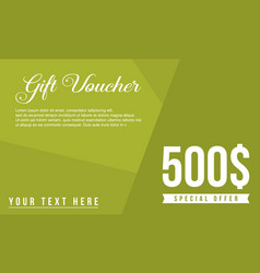 Gift voucher design style collection vector