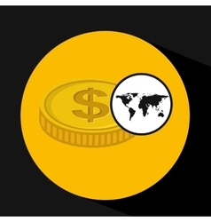 Global business currency concept icon vector