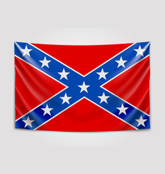 Hanging flag of confederate confederate states of vector