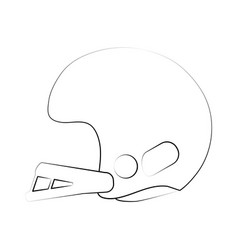 Helmet american football related icon image vector
