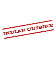 Indian cuisine watermark stamp vector