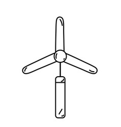 Line industry windpower generator to ecology vector
