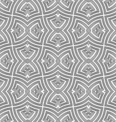 Monochrome geometric twisted seamless pattern vector