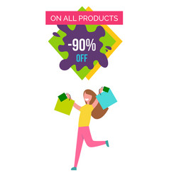 Only all products -90 off vector