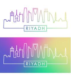 riyadh skyline colorful linear style editable vector image
