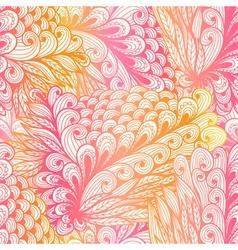 Seamless floral vintage pink pattern vector image vector image