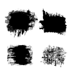 Set of black grunge banners vector