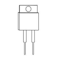 transistor outline icon vector image