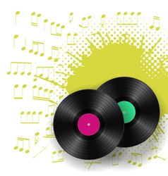 vinyls and blots vector image vector image