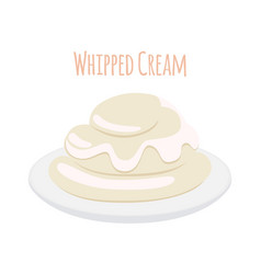 whipped cream milk product dairy sweet yogurt vector image