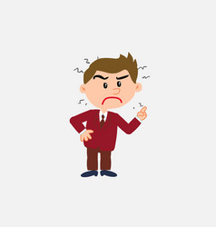 white businessman very angry vector image vector image