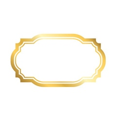 Gold frame simple golden white style vector image
