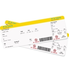 Image of airline boarding pass ticket vector