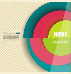 Circle segments infographic design use for vector