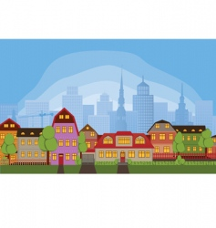 Neighborhood houses vector