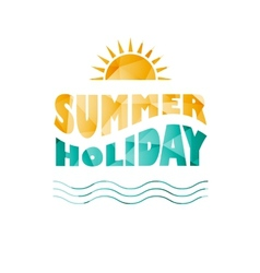 Colored summer holiday text vector