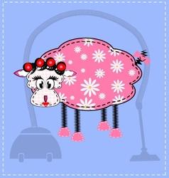 image of a sheep vector image