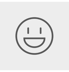 Smiling thin line icon vector