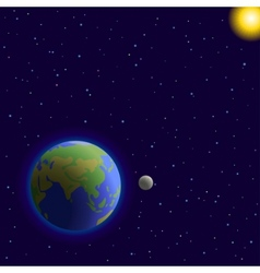 earth moon and sun vector image