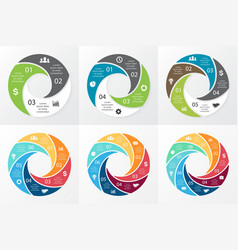 Circle swirl infographic template for vector