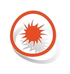 Burst sign sticker orange vector