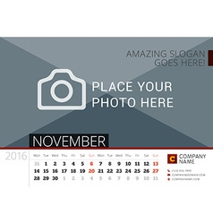 Desk calendar 2016 year design print template with vector