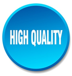 High quality blue round flat isolated push button vector