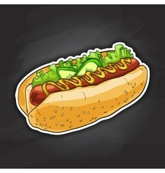 Hot dog color picture vector